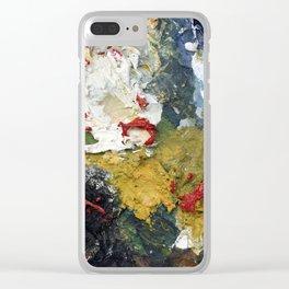 Oil Paint Texture Clear iPhone Case