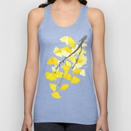 Golden Ginkgo Leaves Unisex Tank Top