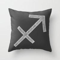 sagittarius Throw Pillows featuring Sagittarius by David Zydd
