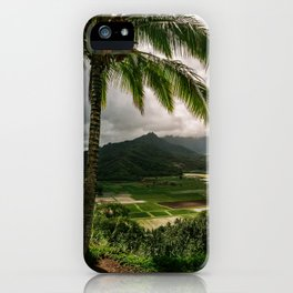 Hanalei Valley Lookout Kauai Hawaii | Tropical Island Nature Coastal Travel Photography Print iPhone Case