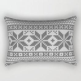 Winter knitted pattern4 Rectangular Pillow