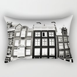 Traditional houses in Amsterdam, Netherlands. Rectangular Pillow