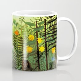 """Henri Rousseau """"Exotic Landscape with Lion and Lioness in Africa"""", 1903-1910 Coffee Mug"""