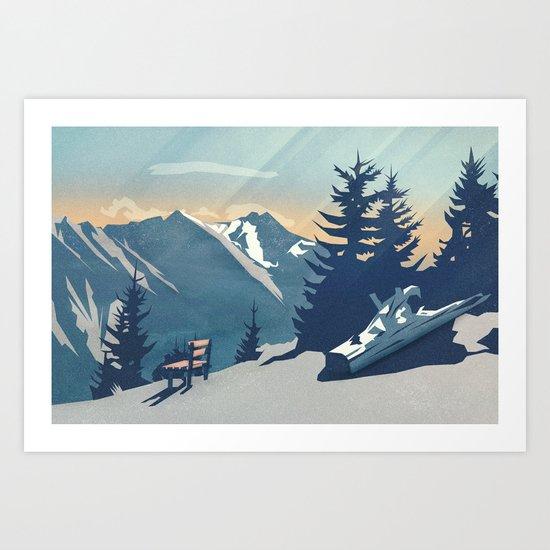 Mountain Sunrise (Pause II) Art Print