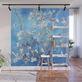 Vincent Van Gogh Almond Blossoms. Sky Blue Wall Mural