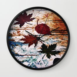 Autumn Wind Wall Clock