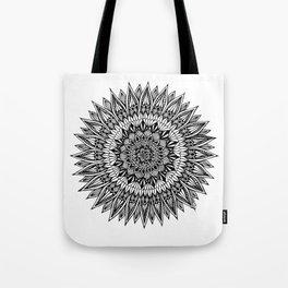 Zentangle - Sunflower Tote Bag