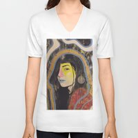 "indigo V-neck T-shirts featuring ""Indigo""  by Kazimir Simpson"