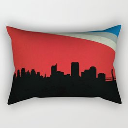 Sacramento Skyline Rectangular Pillow