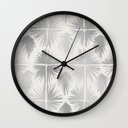 Radiate Silver Wall Clock