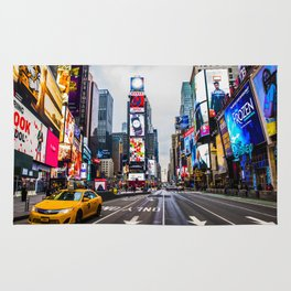 First light in Times Square Rug