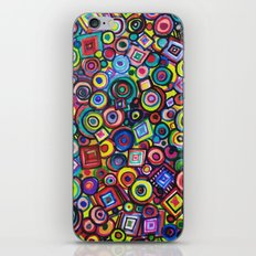 Circles and Squares iPhone & iPod Skin