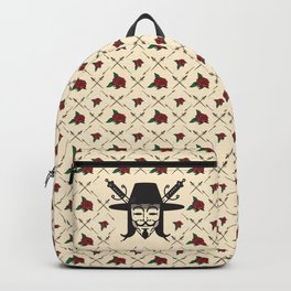 GuyFawkes-Cream Backpack Backpack