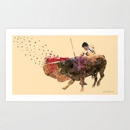 The Evading Cape Art Print