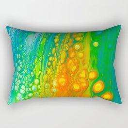 Aqua orange Rectangular Pillow