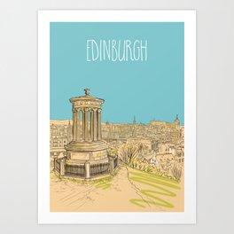 Edinburgh Skyline Art Print