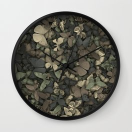 Butterflies camouflage Wall Clock