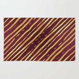 Fuchsia Golden Tiger Stripes Rug