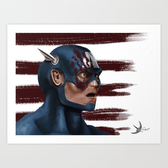 THE FACE COLLECTION - CAPTAIN AMERICA Art Print