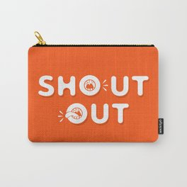 Shout Out Fun Typography Carry-All Pouch