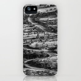 Winding and twisting road in Fort Davis Texas iPhone Case