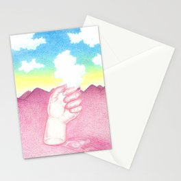 La Main et le Nuage Stationery Cards
