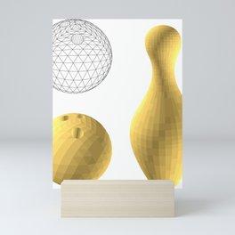 gold, skittles and ball Mini Art Print
