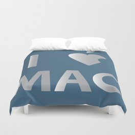 I heart Mac Duvet Cover