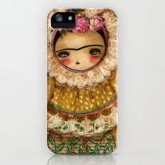 Frida In A Brown And Green Tehuana Mexican Traditional Dress iPhone (5, 5s) Slim Case