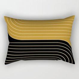 Two Tone Line Curvature IX Rectangular Pillow