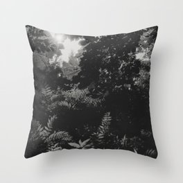 Under the leaves... Throw Pillow