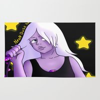 steven universe Area & Throw Rugs featuring Steven universe Amethyst  by Neon Dusk
