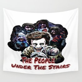 Children Under The Stairs Wall Tapestry