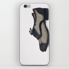 Leather bluchers iPhone Skin