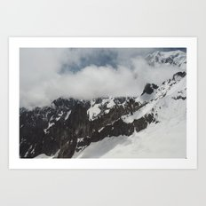 Clouds Shrouding Mont Blanc Art Print