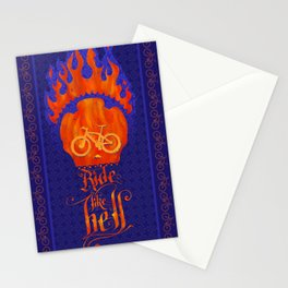 Ride like hell Stationery Cards