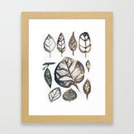 Autumn Leaves Won't Leave You Framed Art Print