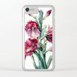 Flowering cactus Clear iPhone Case