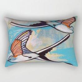 Scissortail Flycatchers in flight Rectangular Pillow