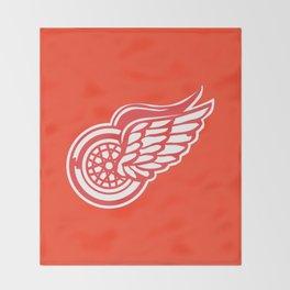Red Wings Detroit Hockey Team Logo Throw Blanket
