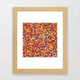 Round Sprinkles Framed Art Print