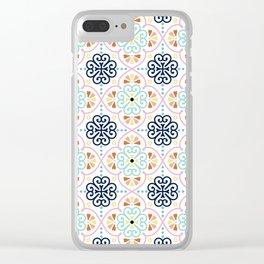 Pastel Moroccan Pattern Clear iPhone Case