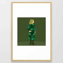 Waiting for spring rain Framed Art Print