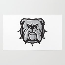 angry bulldog head Rug