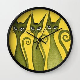 Merrimack Whimsical Cats Wall Clock