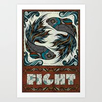 fight Art Prints featuring Fight by Andreas Preis