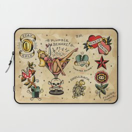Plumber Beware! (Super Mario Bros) Laptop Sleeve