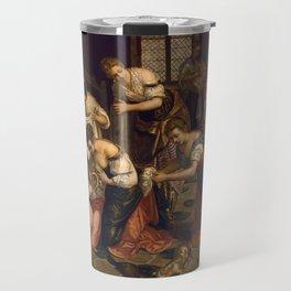 "Tintoretto (Jacopo Robusti) ""Birth of St John the Baptist"" Travel Mug"
