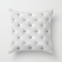White Tufted Throw Pillow