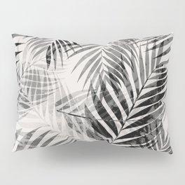 Palm Leaves - Black & White Pillow Sham